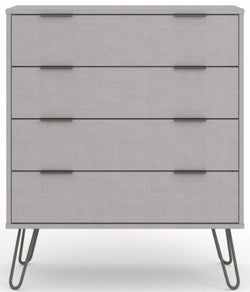 Augusta Grey 4 Drawer Chest with Hairpin Legs