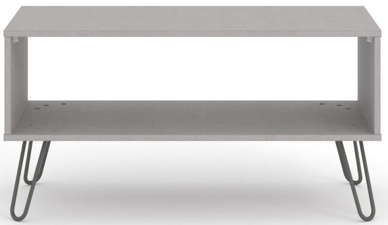 Augusta Grey Open Coffee Table with Hairpin Legs
