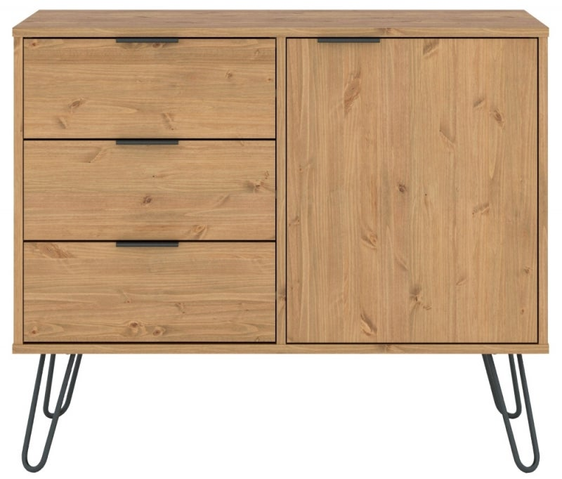 Augusta Pine Small Sideboard with Hairpin Legs
