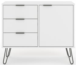Augusta White Small Sideboard with Hairpin Legs