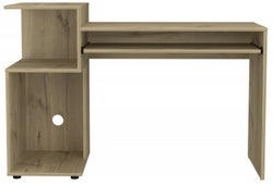 Brooklyn Pine Desk with Low Shelving Unit