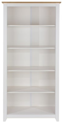 Capri Tall Bookcase - Pine and White Painted