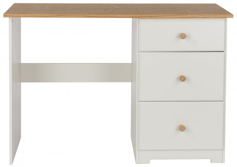 Colorado Dressing Table - White Painted and Oak Effect