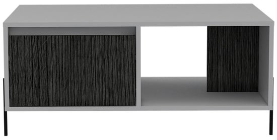Dallas White and Grey Oak 1 Drawer Coffee Table