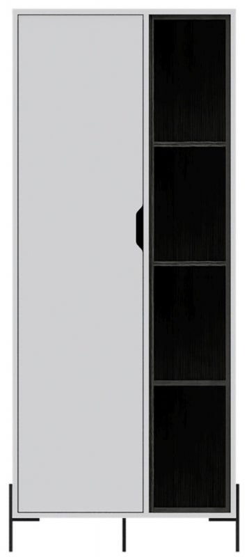 Dallas Display Cabinet - White and Grey Oak Effect