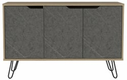 Manhattan Medium Sideboard with Hairpin Legs - Pine and Stone Effect
