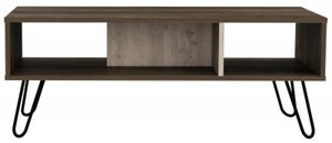 Nevada Coffee Table with Hairpin Legs - Grey Oak Effect