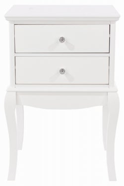 Lyon White Painted 2 Drawer Bedside Cabinet
