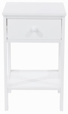 Shaker White Painted 1 Drawer Petite Bedside Cabinet