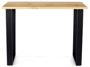 Texas Industrial Console Table with Black Metal Legs