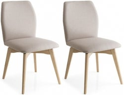 Connubia Hexa Vintage Swivel Dining Chair with Wooden Legs (Pair)