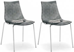 Connubia Ice Plastic and Metal Dining Chair (Pair)