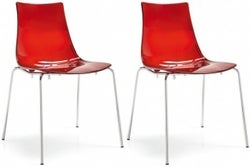 Connubia Led Stackable Technopolymer Dining Chair (Pair)