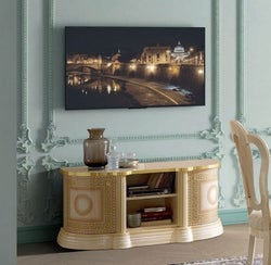 Camel Aida Day Ivory Italian Mini TV Cabinet