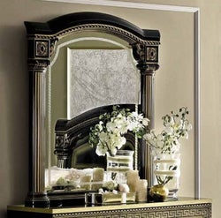 Camel Aida Black and Gold Italian Mirror - 102cm x 118cm