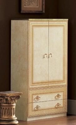 Camel Aida Ivory Italian 2 Door Wardrobe