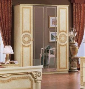 Camel Aida Ivory Italian 4 Door Wardrobe