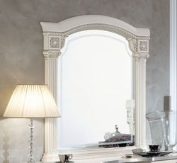 Camel Aida White and Silver Italian Mirror - 102cm x 118cm