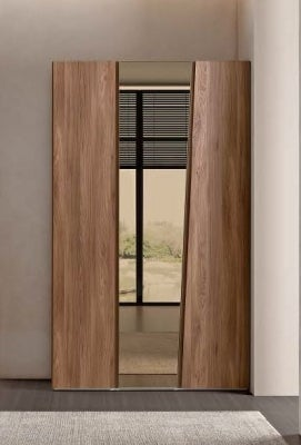 Camel Akademy Night Italian Wooden 3 Door Wardrobe with Mirror