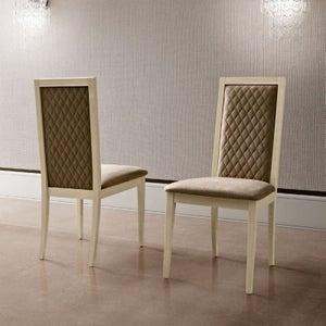 Camel Ambra Day Sand Birch Rombi Nabuk Upholstered Italian Dining Chair