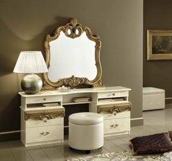 Camel Barocco Ivory and Gold Italian Vanity Dresser