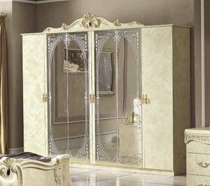 Camel Barocco Ivory Italian 6 Door Wardrobe