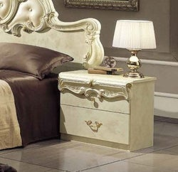 Camel Barocco Ivory Italian Bedside Cabinet