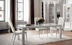 Camel Dama Bianca Day White Italian Extending Dining Table