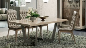 Camel Elite Day Sand Birch Italian Net Extending Dining Table