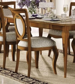 Camel Fantasia Day Walnut Italian Dining Chair (Pair)