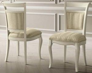 Camel Giotto Day Bianco Antico Italian Casablanca Fabric Dining Chair