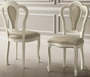 Camel Giotto Day Bianco Antico Italian Fabric Michelangelo Vilma Dining Chair