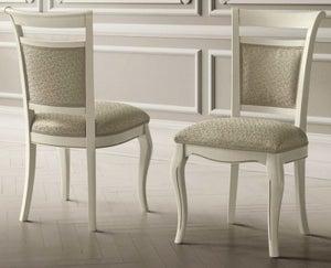 Camel Giotto Day Bianco Antico Italian Vilma Fabric Dining Chair