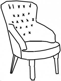 Camel Giotto Night Walnut Italian Fabric Armchair
