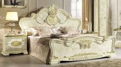 Camel Leonardo Night Italian Ivory High Gloss and Gold Bed