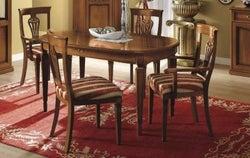 Camel Nostalgia Day Walnut Italian Oval Extending Dining Table