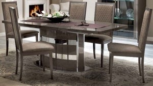 Camel Platinum Day Silver Birch Italian Butterfly Extending Dining Table