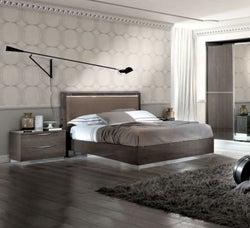 Camel Platinum Night Italian Rombi Bed with Luna Storage