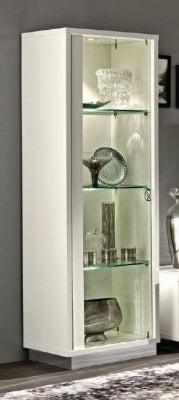Camel Roma Day White Glamuor Italian 1 Left Door Glass Cabinet