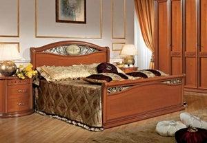 Camel Siena Night Cherry Wood Italian Ferro Bed with Footboard