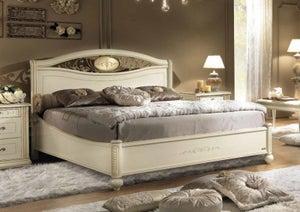 Camel Siena Night Ivory Italian Ferro Ring Bed with Storage