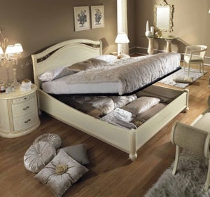 Camel Siena Night Ivory Italian Ring Bed with Storage