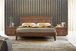 Camel Storm Night Wooden Italian Bed