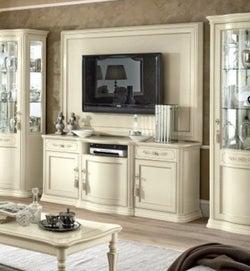 Camel Torriani Day Ivory Italian Large TV Cabinet