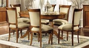 Camel Torriani Day Walnut Italian Oval Extending Dining Table