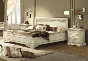 Camel Torriani Night Ivory Tiziano Italian Bed with Storage