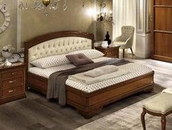 Camel Torriani Night Walnut Giorgione Italian Ring Bed with Storage