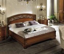 Camel Torriani Night Walnut Botticelli Italian Ring Bed with Storage