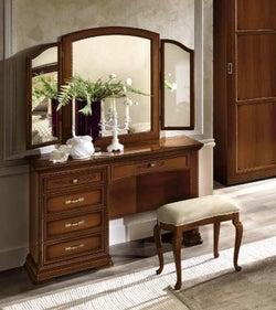 Camel Torriani Night Walnut Italian Mini Vanity Dresser