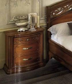 Camel Torriani Night Walnut Italian VIP Bedside Cabinet